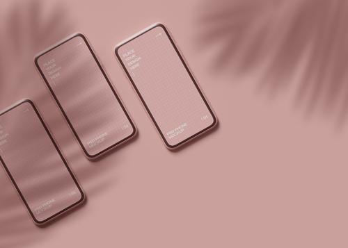 3つのスマートフォンの画像